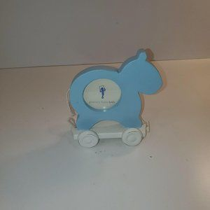 Blue Bears on Pulley 1 inch Baby Photo Pottery Bar